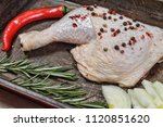 raw chicken breast for grilled  ...   Shutterstock . vector #1120851620