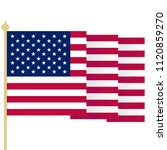 american flag  waving usa flag... | Shutterstock .eps vector #1120859270