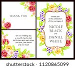 invitation with floral...   Shutterstock . vector #1120865099