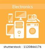 electronics zone. electronic... | Shutterstock .eps vector #1120866176