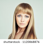 beautiful woman with long... | Shutterstock . vector #1120868876