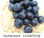 macro photo of blueberries on...   Shutterstock . vector #1120870136