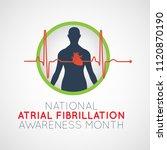 national atrial fibrillation...   Shutterstock .eps vector #1120870190