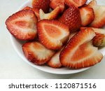 close up photo of strawberry...   Shutterstock . vector #1120871516