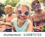 closeup of diverse senior... | Shutterstock . vector #1120871723