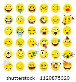 set of emoticons | Shutterstock .eps vector #1120875320