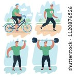 vector cartoon illustration of... | Shutterstock .eps vector #1120876526