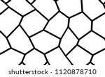 black and white irregular grid  ... | Shutterstock .eps vector #1120878710