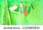 garden tools with free copy... | Shutterstock . vector #1120885820