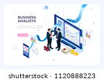 investment and virtual finance. ... | Shutterstock . vector #1120888223