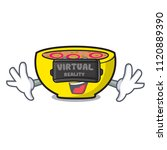 virtual reality soup union...   Shutterstock .eps vector #1120889390