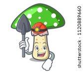 Miner Green Amanita Mushroom...