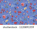 seamless ditsy floral pattern... | Shutterstock .eps vector #1120891559