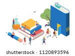 back to school  books ... | Shutterstock .eps vector #1120893596