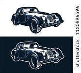 vintage classic car club logo... | Shutterstock .eps vector #1120896596