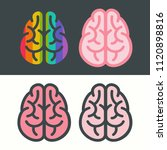 vector set of brains icon. the... | Shutterstock .eps vector #1120898816