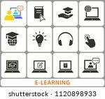 e learning education icons. set ... | Shutterstock .eps vector #1120898933