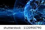 global communication network... | Shutterstock . vector #1120900790