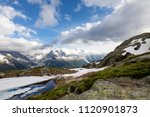 mountain lake in the alps ... | Shutterstock . vector #1120901873