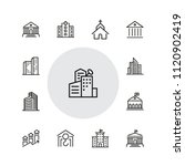 building icons. set of  line... | Shutterstock .eps vector #1120902419
