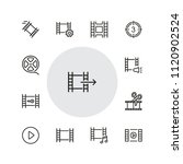 filmstrip icons. set of  line... | Shutterstock .eps vector #1120902524