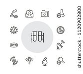medical test icons. set of ... | Shutterstock .eps vector #1120902800
