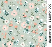 trendy seamless floral  pattern.... | Shutterstock .eps vector #1120904000