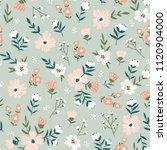 trendy seamless floral  pattern.... | Shutterstock .eps vector #1120904000
