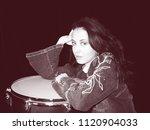sensual woman relax after... | Shutterstock . vector #1120904033