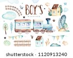 baby boys world. cartoon... | Shutterstock . vector #1120913240
