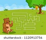 interesting labyrinth maze... | Shutterstock .eps vector #1120913756