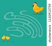 interesting labyrinth maze... | Shutterstock .eps vector #1120913759