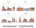 business city in germany.... | Shutterstock .eps vector #1120916456