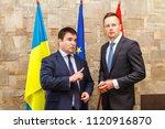 nyzhne solotvyno  ukraine  ... | Shutterstock . vector #1120916870