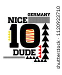 germany nice dude t shirt design | Shutterstock .eps vector #1120923710