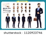business casual fashion. front  ... | Shutterstock .eps vector #1120923746