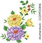 flower bunch on white   Shutterstock .eps vector #1120931846
