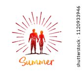 summer. vector love concept... | Shutterstock .eps vector #1120933946