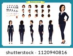 business woman fashion. front ... | Shutterstock .eps vector #1120940816