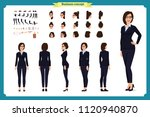 business woman fashion. front ... | Shutterstock .eps vector #1120940870