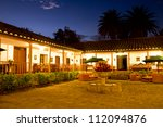 courtyard with fountain ... | Shutterstock . vector #112094876