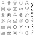thin line vector icon set  ... | Shutterstock .eps vector #1120952846