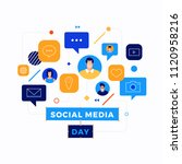 social media day vector... | Shutterstock .eps vector #1120958216