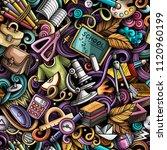 cartoon cute doodles hand drawn ... | Shutterstock .eps vector #1120960199