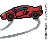 vector pixel art sport car... | Shutterstock .eps vector #1120961393