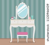 vintage dressing table with... | Shutterstock .eps vector #1120966439