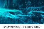 digital blue color wave... | Shutterstock . vector #1120974389