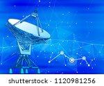 satellite dishes antenna  ... | Shutterstock .eps vector #1120981256