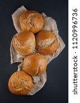 fresh  crunchy spelt rolls ...   Shutterstock . vector #1120996736