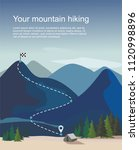 hiking route infographic.... | Shutterstock .eps vector #1120998896